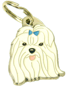 MALTESE BLUE - pet ID tag, dog ID tags, pet tags, personalized pet tags MjavHov - engraved pet tags online